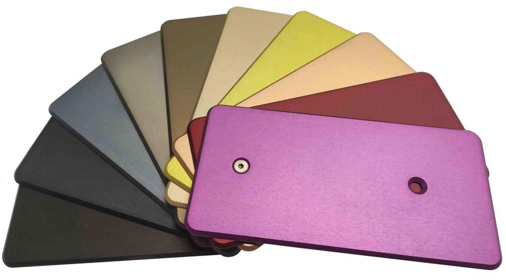 eloxieren verschiedene Farben
